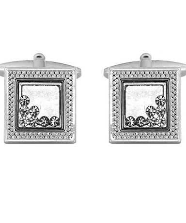 Moving Crystal  Cufflinks - Theodore Designs