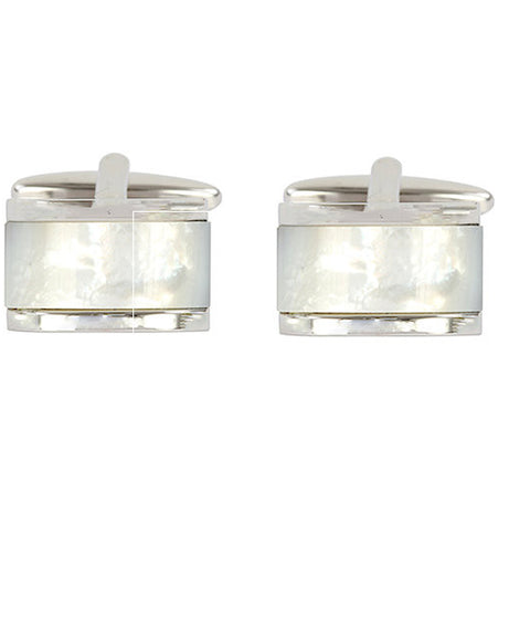 Dome Mother of Pearl Cufflinks - Theodore Designs