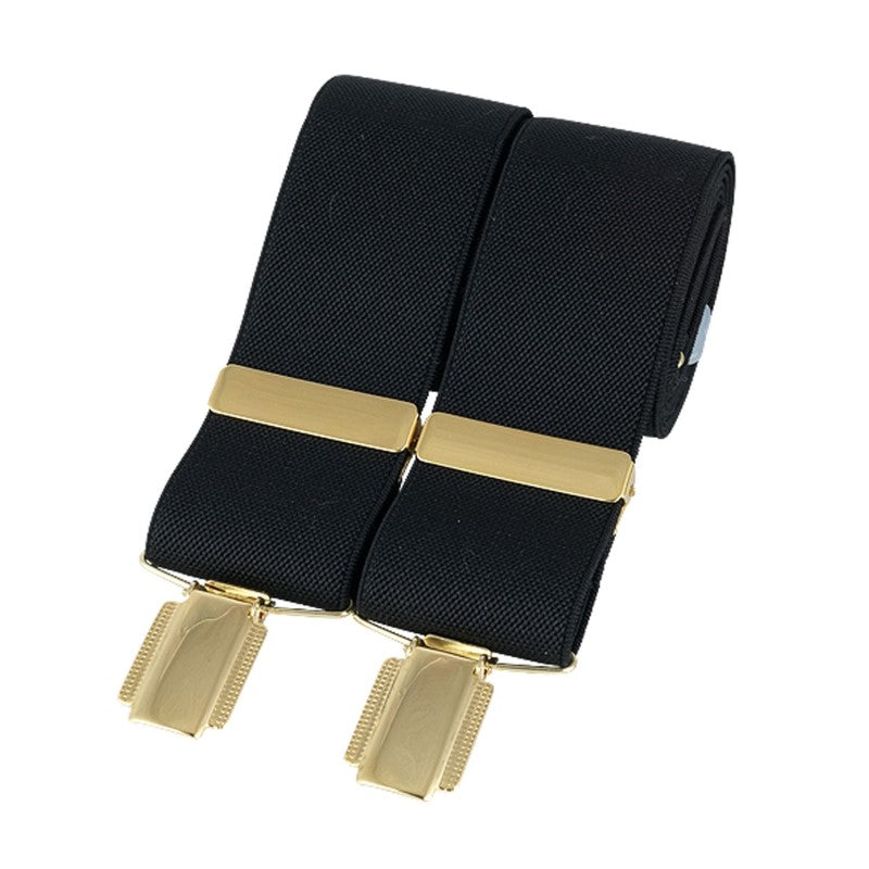Churchill Black Gold Clip Braces - Theodore Designs