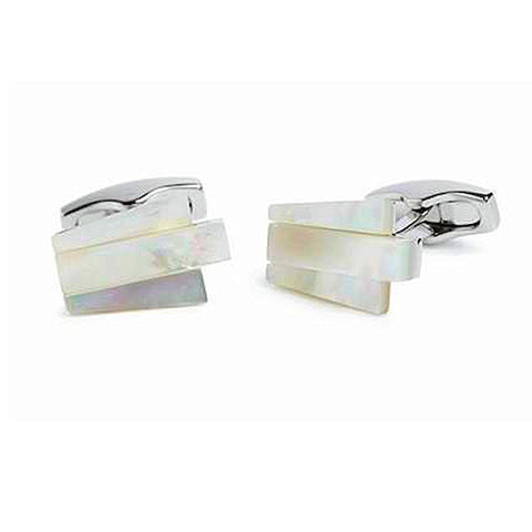 Simon Carter Deco Keystone Mother Of Pearl Cufflinks - Theodore Designs