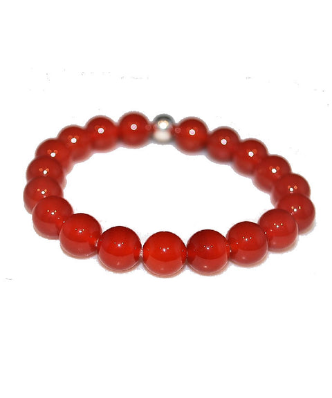 Theodore Red Onyx and Silver Bracelet - Theodore Designs