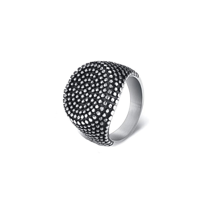 Stainless Steel Round Dot Ring - Theodore Designs