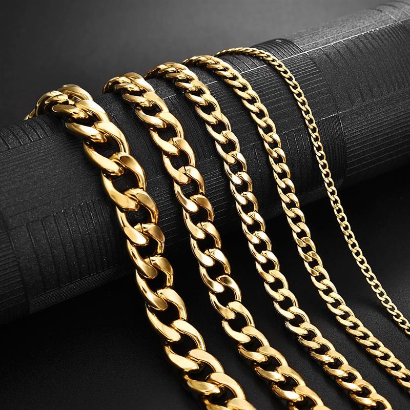 Theodore Stainless Gold Plated Curb Link Chain Necklace - Theodore Designs