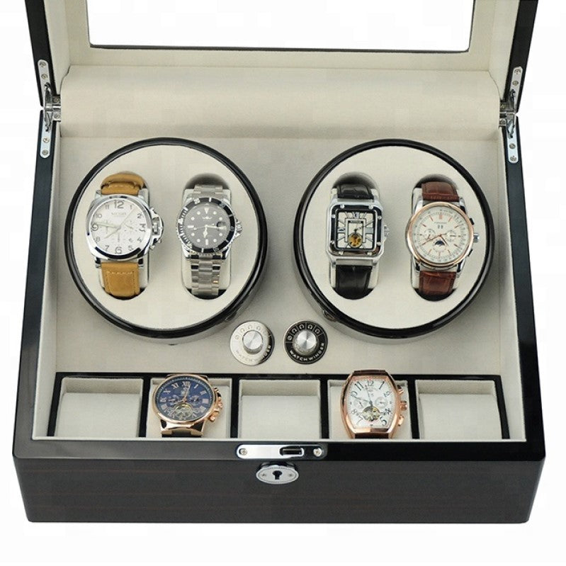 High Gloss Wooden Watch Winder Box - Theodore Designs