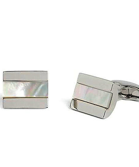 Simon Carter Chunky Half Barrel Mother Of Pearl Cufflinks - Theodore Designs