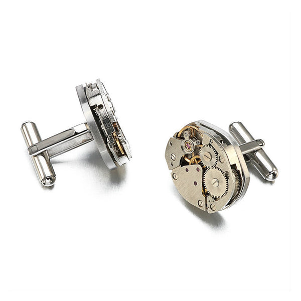 Theodore Stainless Steel Steampunk  Gear Cufflinks