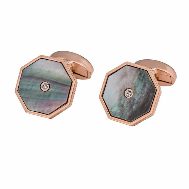 Theodore Gray or White Mother Of Pearl Cufflinks - Theodore Designs