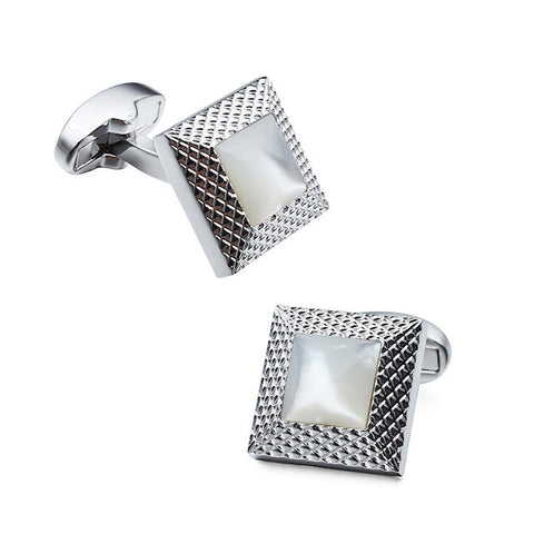 Theodore Mother Of Pearl  Cufflinks - Theodore Designs