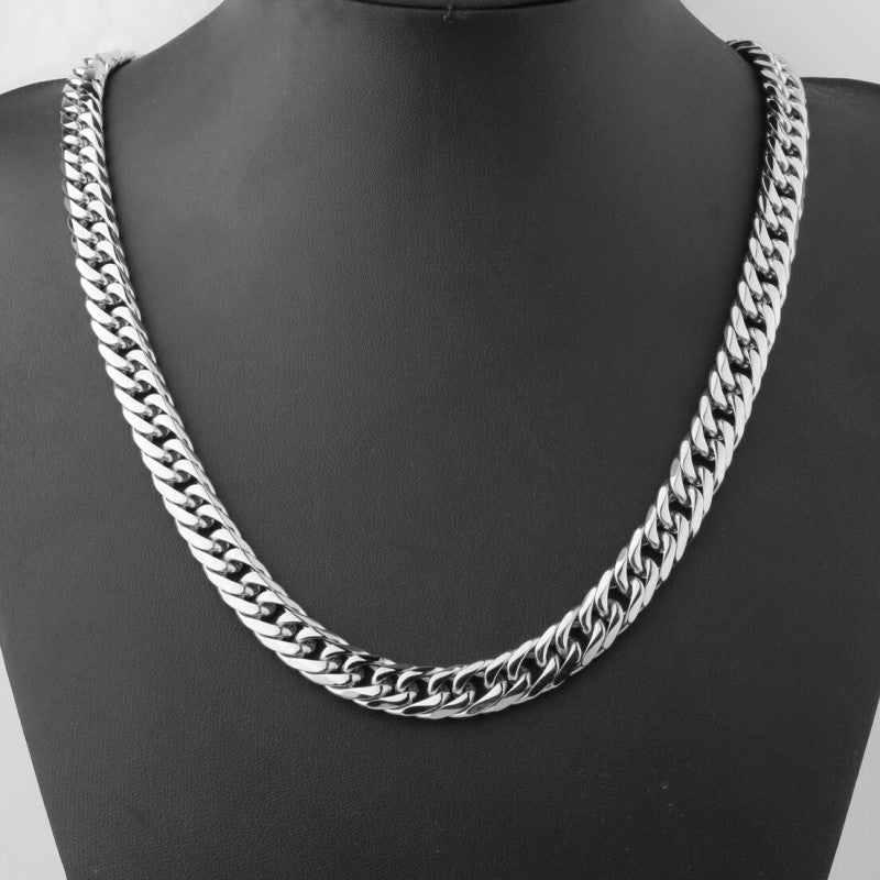 Theodore Stainless Steel Heavy Cuban Link Chain Necklace - Theodore Designs