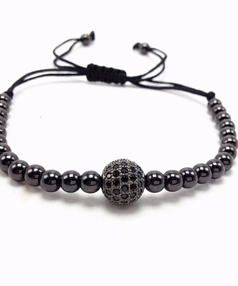 Theodore Macrame Micro Pave CZ Beads Bracelet - Theodore Designs