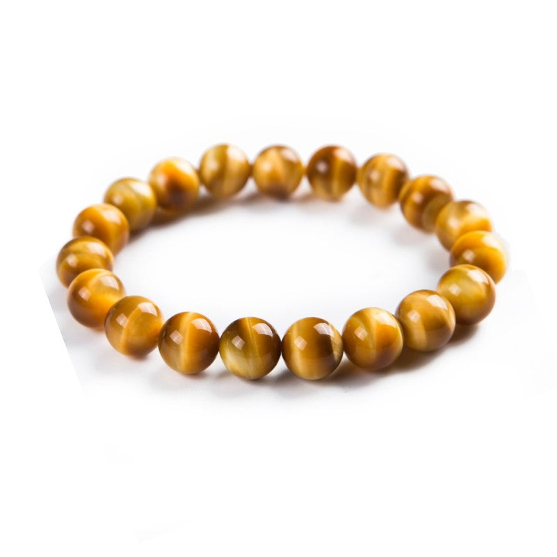 Theodore Natural Gold Yellow Tiger's Eye Bead Bracelet - Theodore Designs