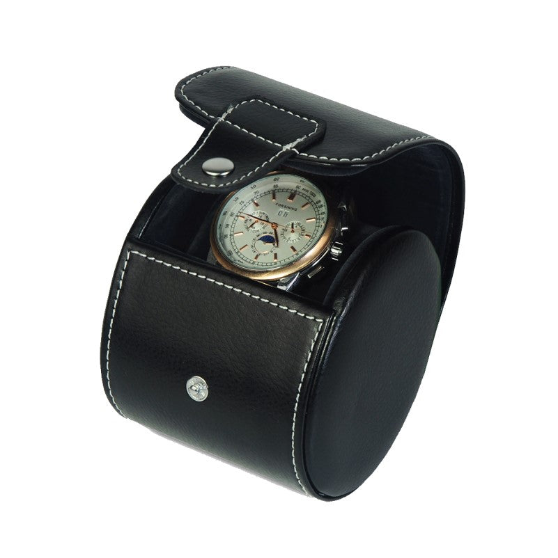 Genuine Leather Travel Single Watch Case Holder Storage - Theodore Designs