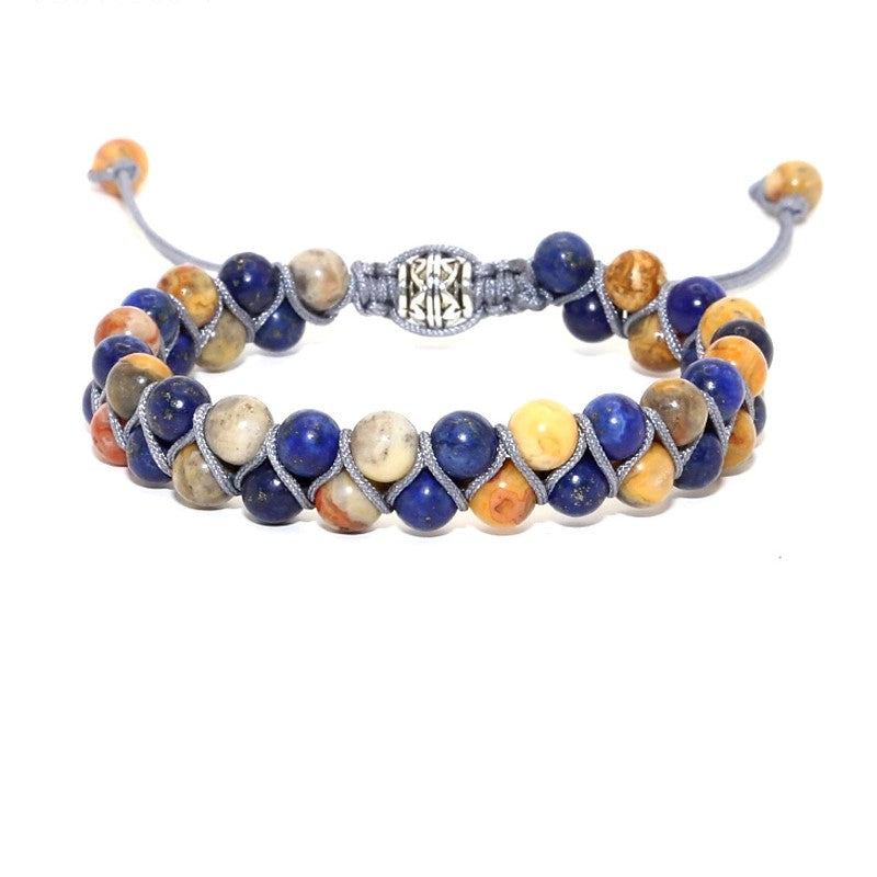 Theodore Sodalite and Jasper Double Beaded Bracelet - Theodore Designs