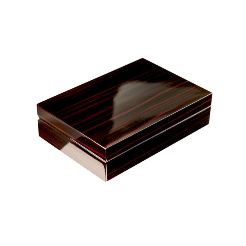Classical Luxury Style Ebony Lacquer Wooden Cufflink / Ring Storage Case - Theodore Designs