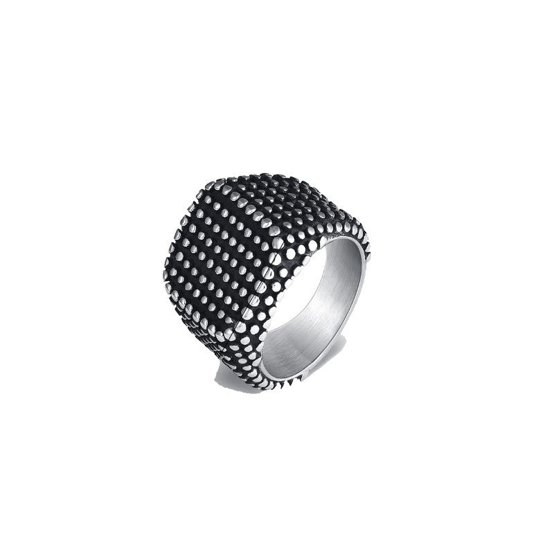 Stainless Steel Square Dot Ring - Theodore Designs