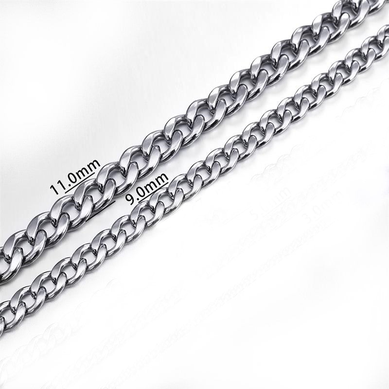 Theodore Stainless Steel Curb Link Chain Necklace - Theodore Designs