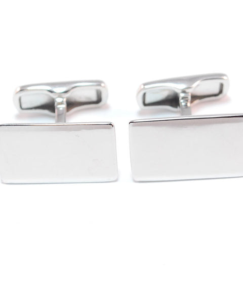 Theodore Sterling Silver Rectangle Cufflinks - Theodore Designs