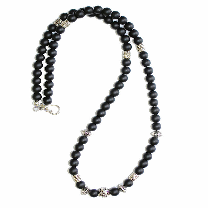 Theodore Black Obsidian and Onyx Necklace - Theodore Designs