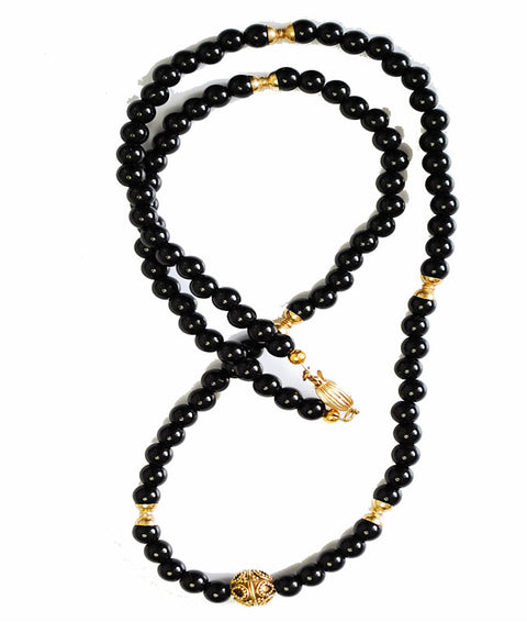 Theodore Brack Agate and Vermeil Gold Bead Necklace - Theodore Designs