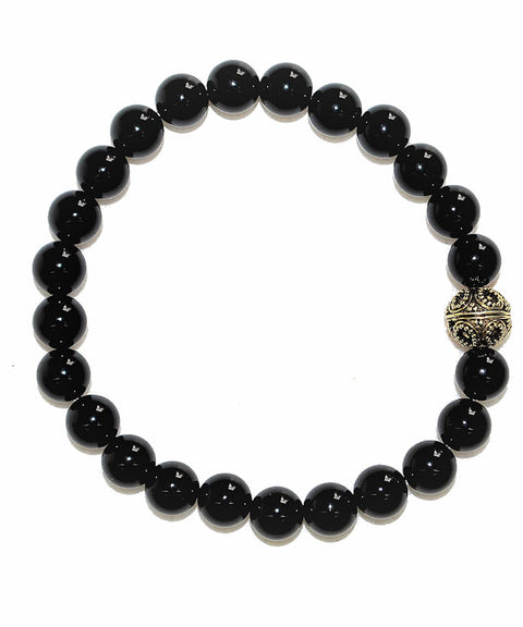 Theodore Black Onyx and Gold Bead Bracelet - Theodore Designs