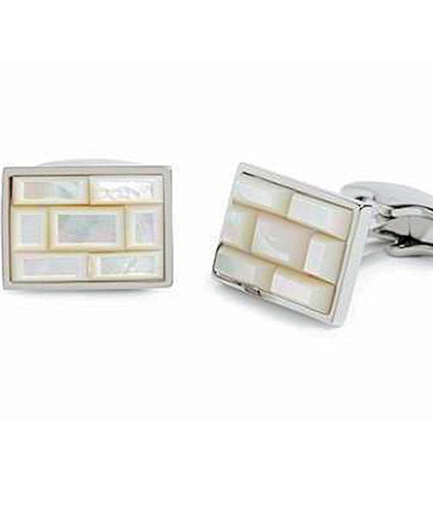 Simon Carter Mother Of Pearl Tile Cufflinks - Theodore Designs