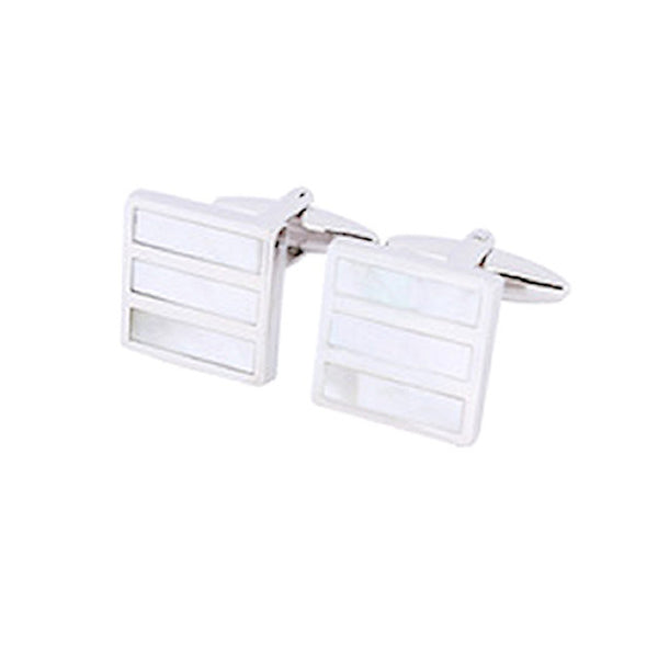 Theodore Mother Of Pearl Stone Grille Cufflinks - Theodore Designs