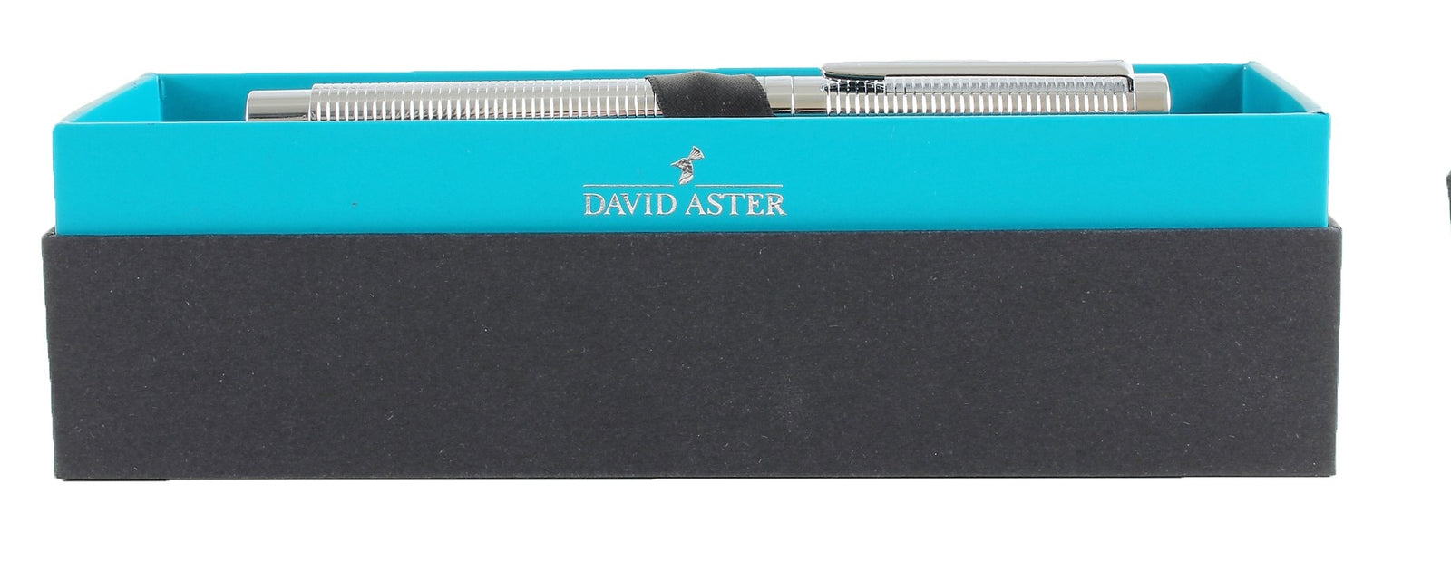 David Aster Chrome Ribbed Fountain Pen - Theodore Designs