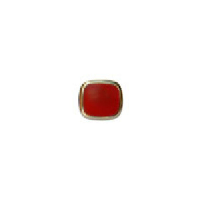 Cornelian Stone Cushion cut Gold Plated Tie Tac - Theodore Designs