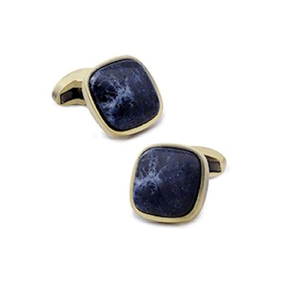 Theodore Stone Cufflinks with Sodalite or Tiger Eye - Theodore Designs