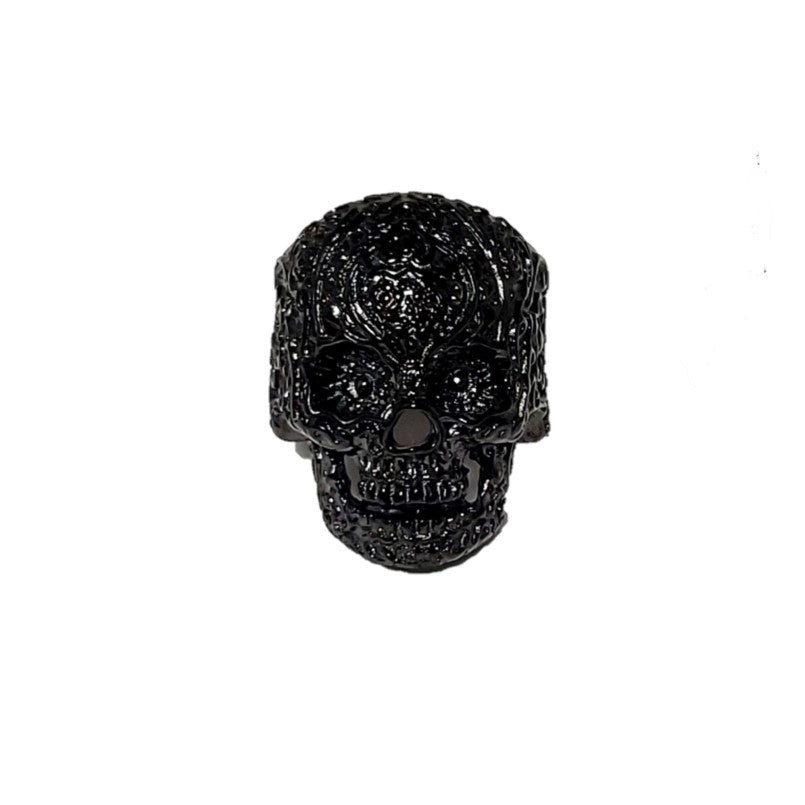 Stainless Steel Black IP Plated men's Skull  Ring - Theodore Designs