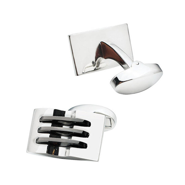 Theodore Classical Rectangle Metal Cufflinks - Theodore Designs