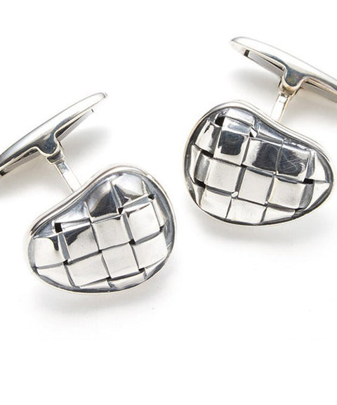 Theodore Sterling Silver Heart Shape Cufflinks - Theodore Designs