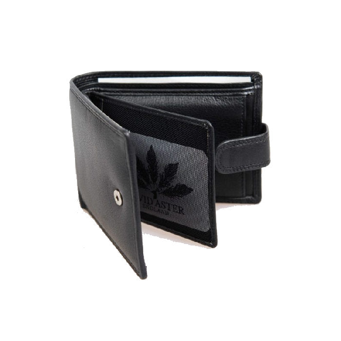 David Aster Black Leather Wallet - Theodore Designs