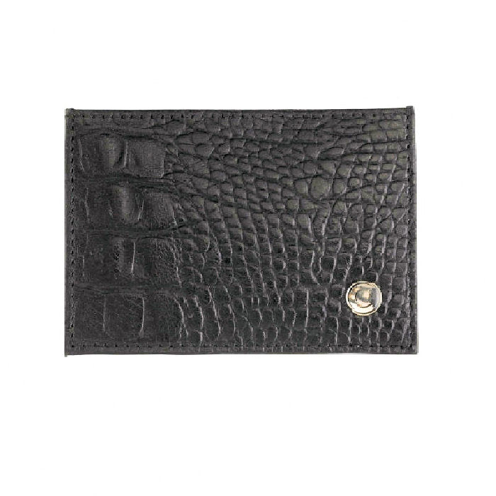 Cudworth Pressed Lizard Credit Card Holder - Theodore Designs