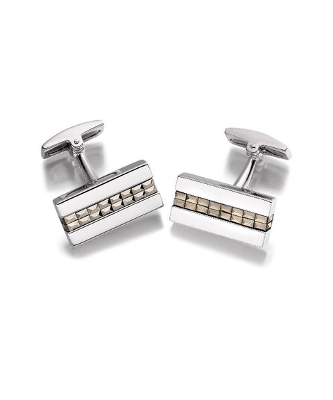 Hoxton Sterling Silver Marcasite Cufflinks