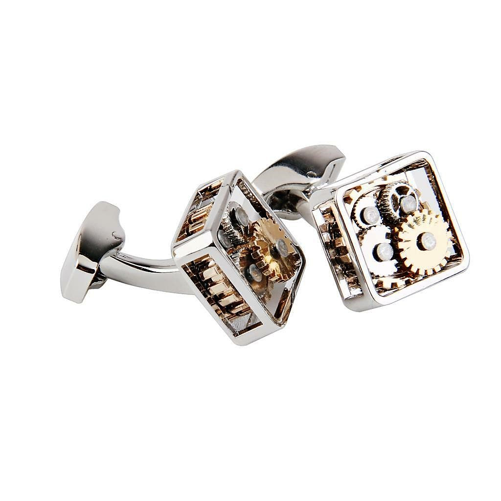 Watch Movement Steampunk Gear Cufflinks - Theodore Designs