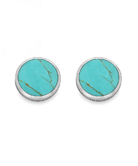 Hoxton Sterling Silver Turquoise Cufflinks
