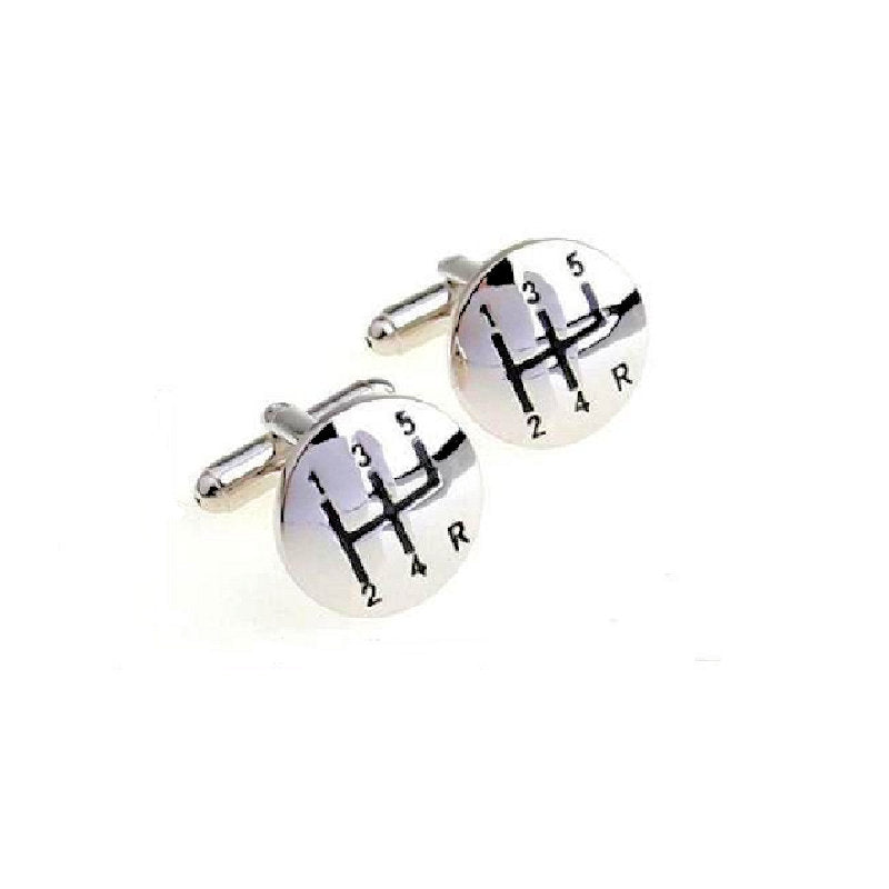Theodore Gear Shift Metal Cufflinks - Theodore Designs