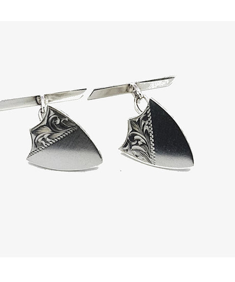Theodore Sterling Silver Shield Cufflinks - Theodore Designs