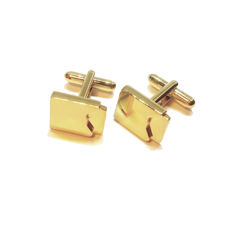 Cudworth Ion Plated Yellow Gold Cufflinks - Theodore Designs