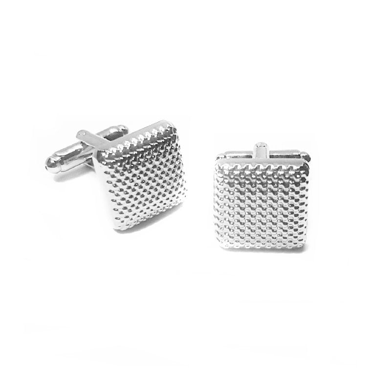 Theodore Rhodium Patterned Cufflinks - Theodore Designs