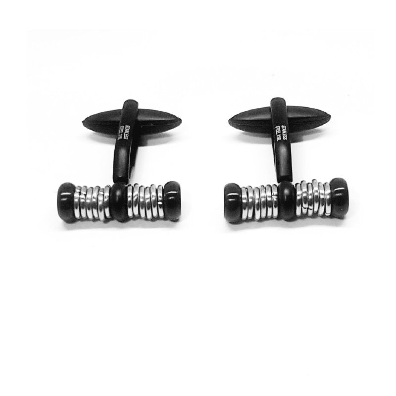 Cudworth Stainless Steel And Ion Plated Cufflinks - Theodore Designs