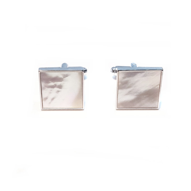 Theodore Mother Of Pearl Square Cufflinks - Theodore Designs