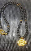 Theodore Lava Stone Beaded Necklace