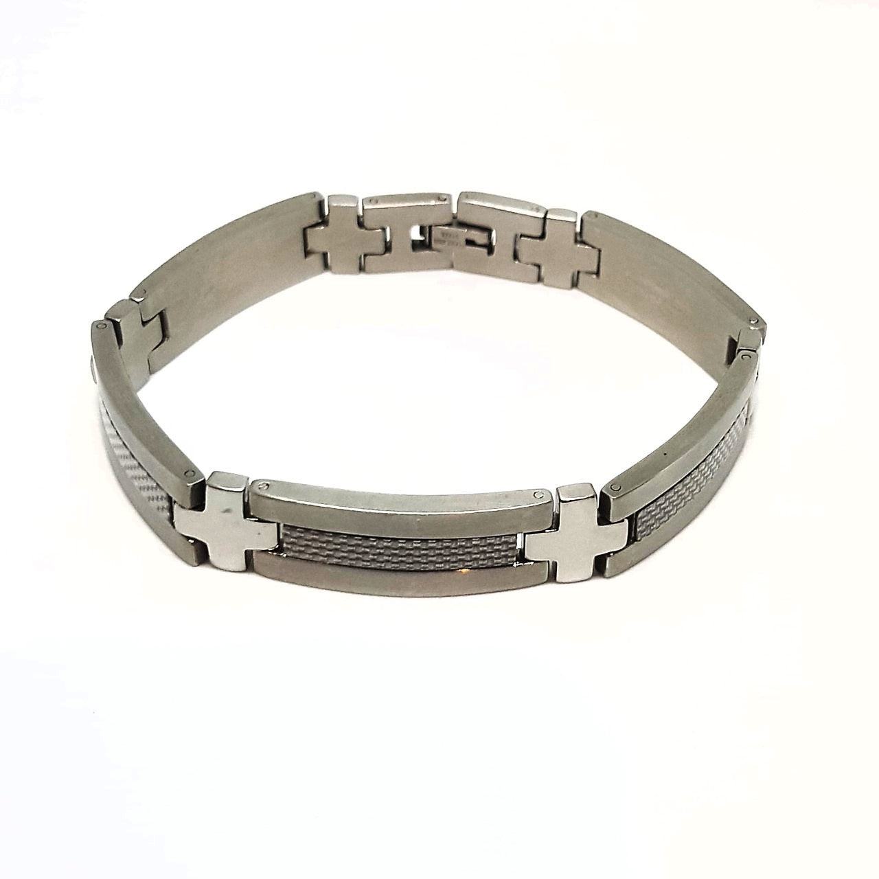 Cudworth Stainless Steel and Carbon Fibre Bracelet - Theodore Designs