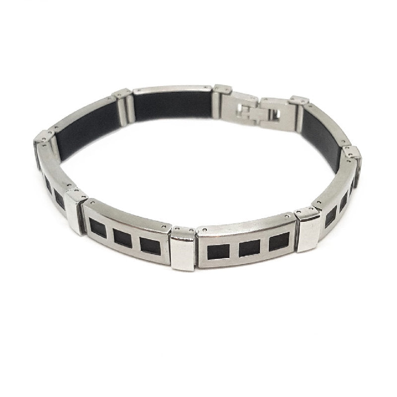 Stainless Steel and Soft Rubber Bracelet - Theodore Designs