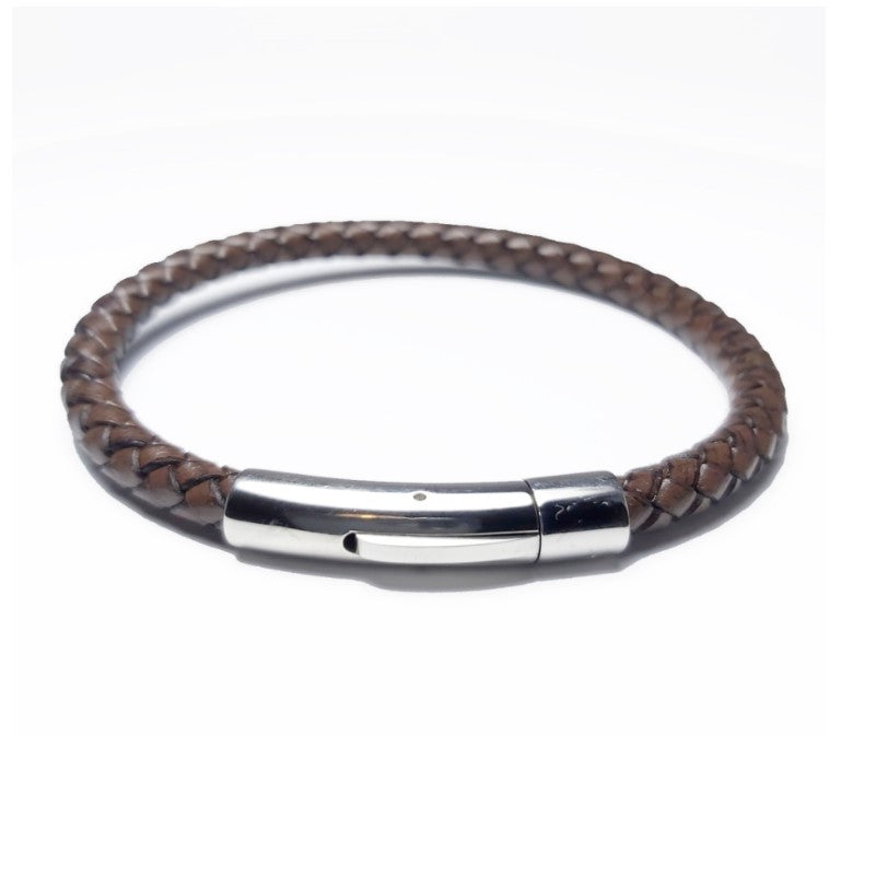 Theodore Genuine Black or Brown Leather Bracelet - Theodore Designs