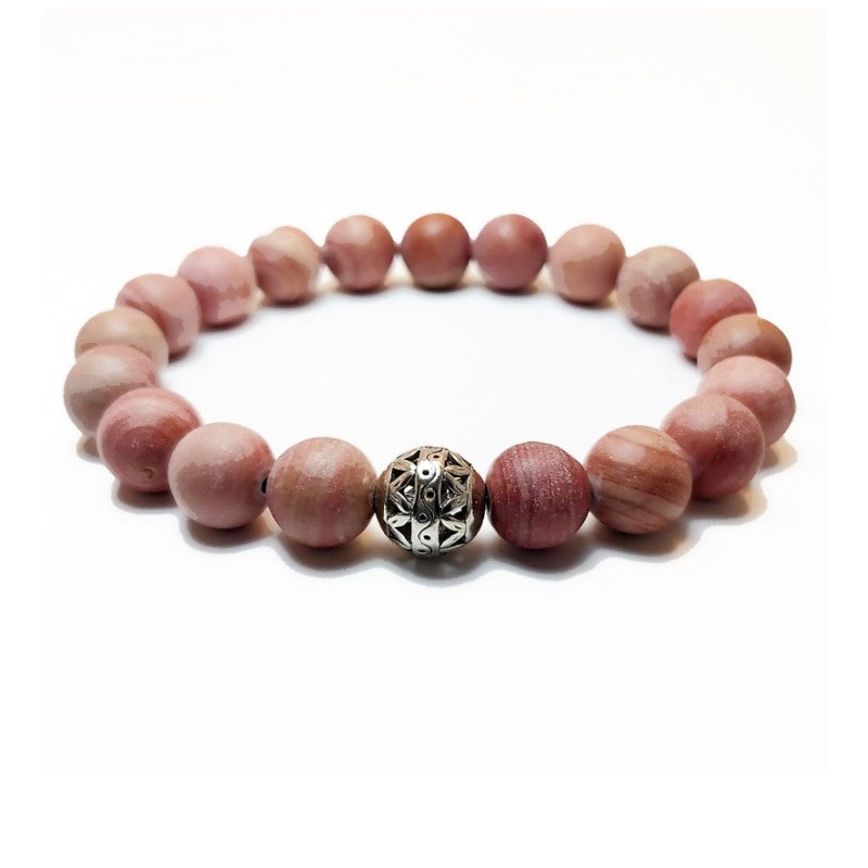 Theodore Red Striped Jasper Bead Bracelet - Theodore Designs