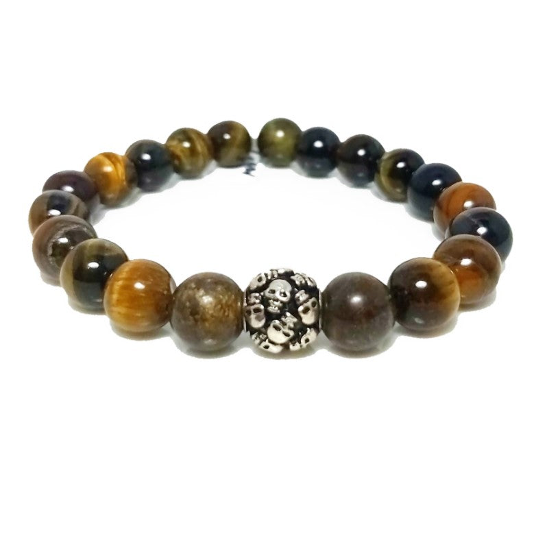 Theodore Tiger Eye  and Bronzite Bead Bracelet - Theodore Designs