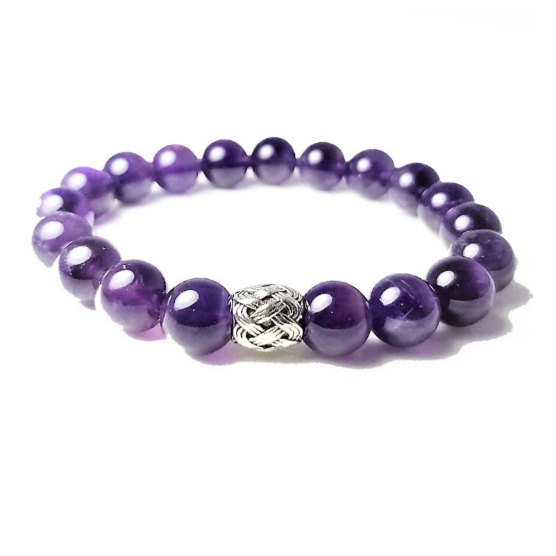 Theodore Natural Amethyst Stone Bead Bracelet - Theodore Designs